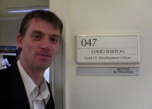EasierThan Business Software founder, Dave Barton, working as an IT manager