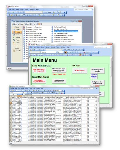 Screenshots - Microsoft Access Database Alterations